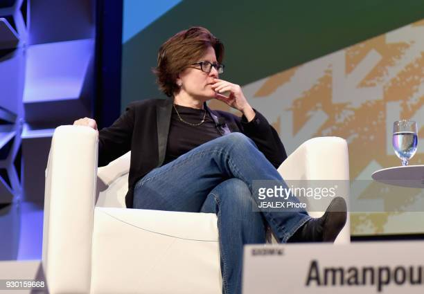 Recode Executive Editor Kara Swisher speaks onstage at Christiane Amanpour on Sex Love Around the World during SXSW at Austin Convention Center on...