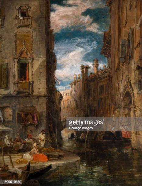Recollection of Venice, 1853. Artist James Holland. .