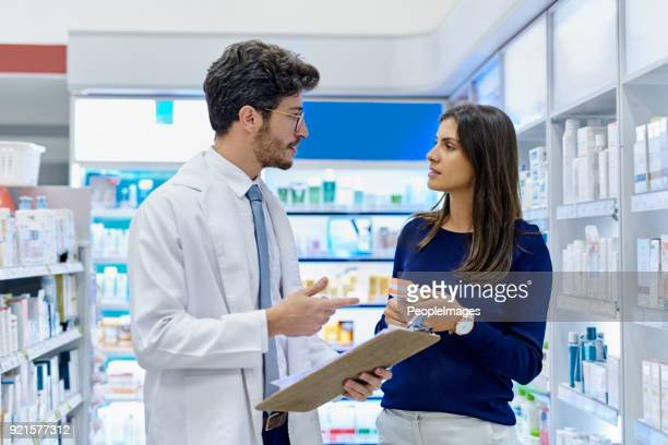 i recommend you take this daily to clear your symptoms - pharmacy stock pictures, royalty-free photos & images