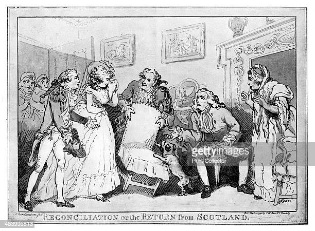 'Reconciliation or the Return from Scotland' late 18th century Illustration from Social Caricature in the Eighteenth Century With over two hundred...