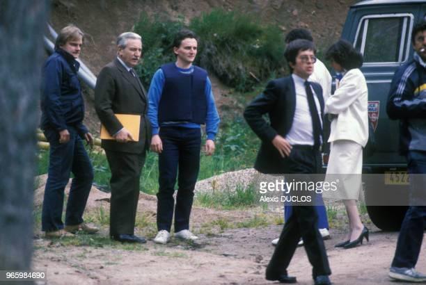 Reconstitution du meurtre de Bernard Laroche dans le cadre de l'affaire Villemin le 20 juin 1985 en France