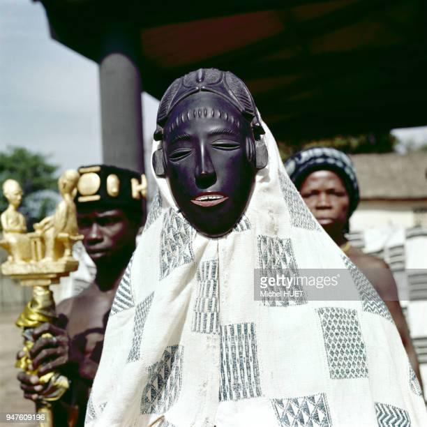 Reconstitution en hommage à Abla Pokou la reine des Baoulés à Sakassou Côte d'Ivoire