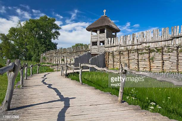 Reconstructed ancient Slav settlement