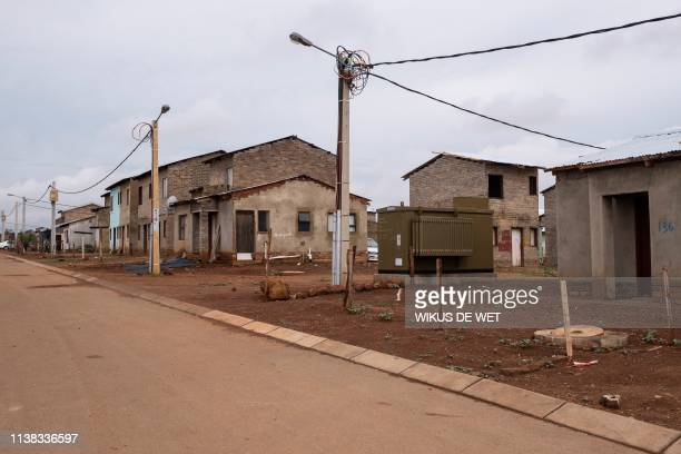 Reconstruction and Development Program Houses are photographed on April 5 2019 in Kliptown Extension 11 near Soweto South Africa goes to the polls...