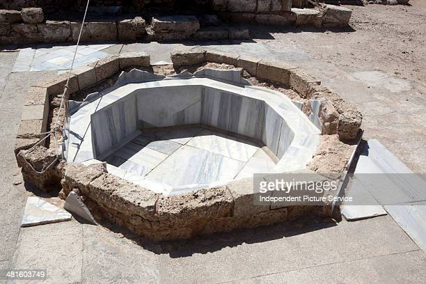 Reconstruction at the Governor's Palace Baths in Caesarea Maritima Caesarea Palestinae Israel