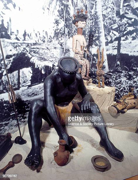 Reconstruction in the Upper Wellcome Gallery Science Museum London The Ibibio tribe live mainly in southeast Nigeria They believe that illness is...