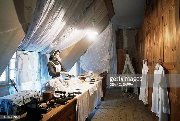 Reconstruction of a ironing room Chateau de Sedaiges Marmanhac Auvergne France