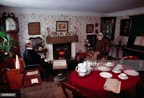 Reconstruction of a traditional house Angus Folk Museum Glamis Scotland United Kingdom