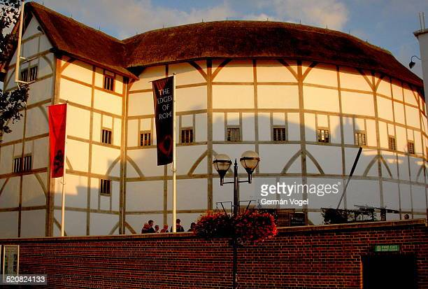 Reconstruction of the 17th century Shakespeare's Globe Theatre in London.