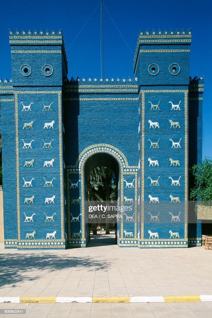 Reconstruction of Ishtar Gate, Babylon : News Photo