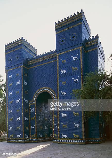 Reconstruction of the Ishtar Gate in Babylon Babylonian civilisation 2nd millennium 6th century BC