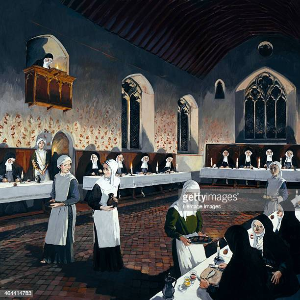 Reconstruction of the refectory during the 15th century Denny Abbey Cambridgeshire 1993 Denny Abbey was founded by Benedictine monks in the 12th...
