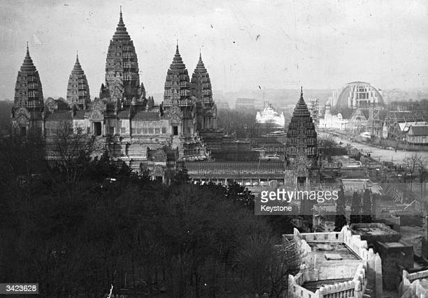 Reconstruction of the Temple of Angkor at the Colonial Exposition in Paris.