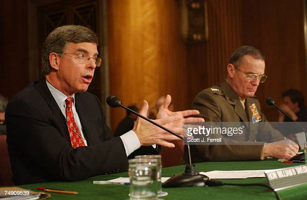 RECONSTRUCTIONWilliam B Taylor State Department coordinator for Afghanistan and Gen James L Jones supreme allied commander for Europe testify during...