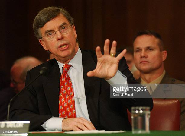 RECONSTRUCTIONWilliam B Taylor State Department coordinator for Afghanistan testifies during the Senate Foreign Relations hearing on continuing...