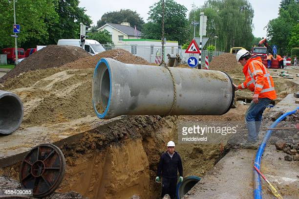 Recontruction of the sewage system