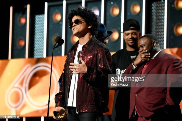 96ec7bd2 Record artist Bruno Mars accepts the award for Album of the Year during the  60th Annual