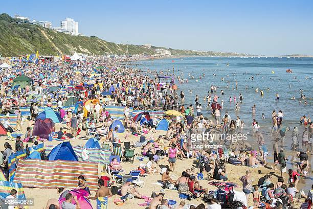 Record breaking crowd on the beach at Bournemouth Air Festival 2013