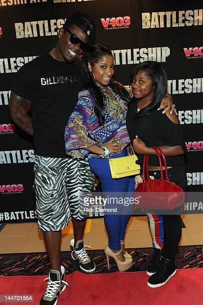Record Co Executive Memphitz his wife TV Reality Star Toya Wright and Regginae Carter attend V103 Private Atlanta BATTLESHIP Screening at AMC Phipps...
