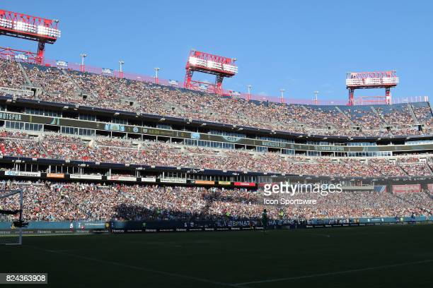 Record crowd for soccer in the state of Tennessee of over 56,000 at the game between Manchester City and Tottenham Hotspur. Manchester City defeated...