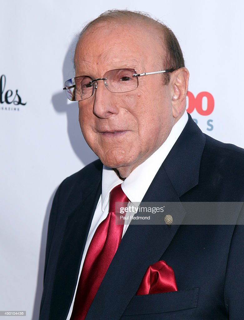 Record executive Clive Davis arriving at Songs Of Hope X 10th Anniversary Event Benefiting City Of Hope at House of Fair on June 4, 2014 in Brentwood, California.