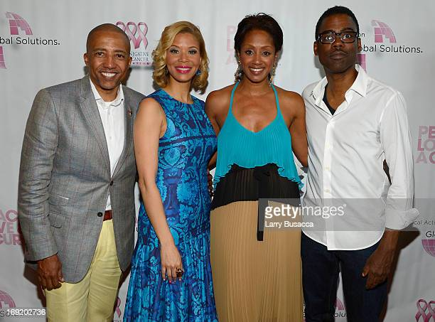 Record Executive Kevin Liles Erika Liles Malaak ComptonRock and Chris Rock attend the 2013 Peace Love A Cure Triple Negative Breast Cancer Foundation...