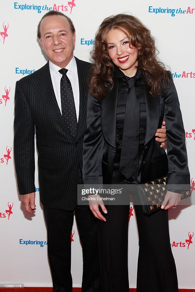 Record executive Tommy Mottola and singer/songwriter Thalia attend the Tony Bennett 85th birthday gala at The Metropolitan Opera House on September 18, 2011 in New York City.