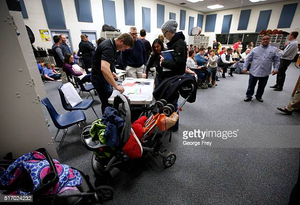 A record number of voters cast ballots at the Democratic caucuses at Farrer Junior High on March 22 2016 in Provo Utah The Republicans have 40...
