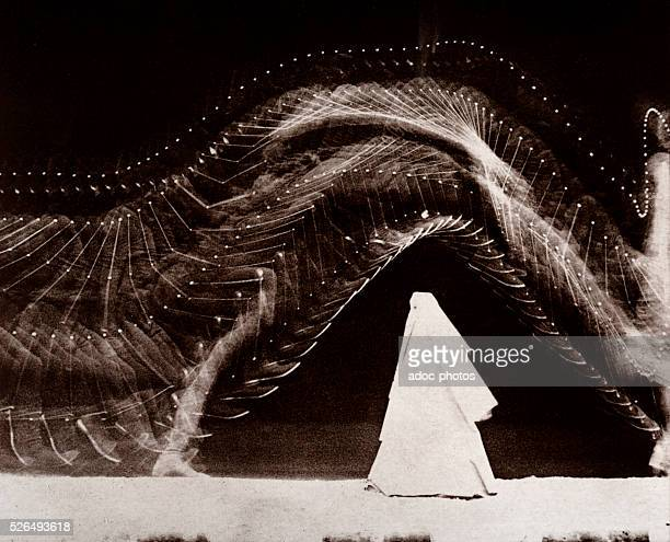 Record of the several phases of a jump Chronophotography by Etienne Jules Marey in 1886