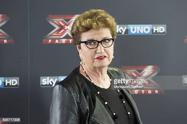 Record producer and a TV personality Mara Maionchi during the press conference of presentation of the first live episode of the talent show X Factor...