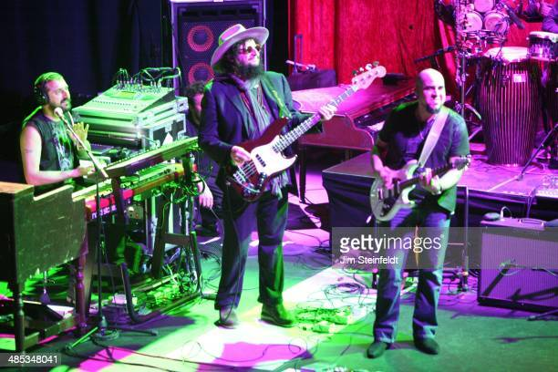 Record producer and bassist Don Was performs with Zucchero's band at the Nokia Theatre in Los Angeles California on April 2 2014