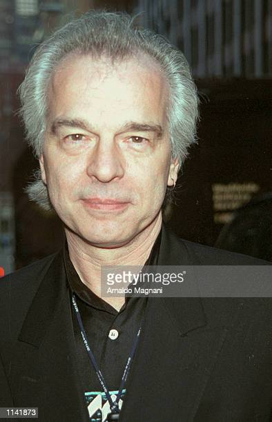 Record producer and long time friend of the Dalai Lama, Tony Visconti arrives at the Tibet House Benefit Concert February 26, 2001 at Carnegie Hall...