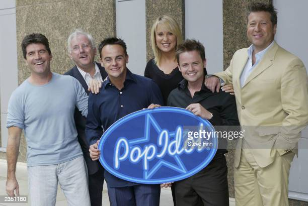 Record producer and Pop Idol judge Simon Cowell record producer Peter Waterman Pop Idol host Declan Donnelly Pop Idol judge Nicki Chapman Pop Idol...