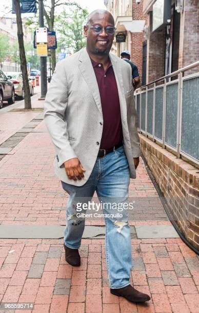 Record producer Andre Harrell arrives to Fox 29's 'Good Day' at FOX 29 Studio on June 1 2018 in Philadelphia Pennsylvania