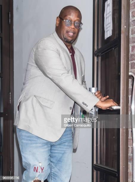 Record producer Andre Harrell is seen leaving Fox 29's 'Good Day' at FOX 29 Studio on June 1 2018 in Philadelphia Pennsylvania