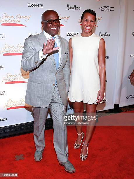 Record producer Antonio 'LA' Reid and wife Erica Reid attend the 1st annual Steve Harvey Foundation gala at Cipriani Wall Street on May 3 2010 in New...