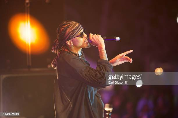 Record Producer August Alsina performs at the Los Angeles Soul Music Festival at Exposition Park on July 14 2017 in Los Angeles California