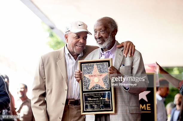 Record Producer Berry Gordy speaks onstage at a ceremony honoring Music Executive Clarence Avant with a star on the Hollywood Walk of Fameon October...