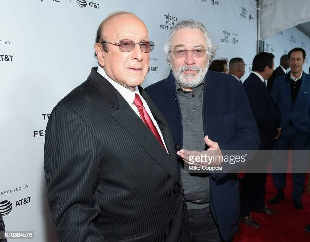 Record Producer Clive Davis and Robert De Niro attend the 'Clive Davis The Soundtrack Of Our Lives' Premiere at Radio City Music Hall on April 19...