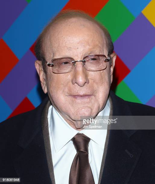 Record producer Clive Davis attends the screening of Marvel Studios' 'Black Panther' hosted by The Cinema Society with Ravage Wines and Synchrony at...