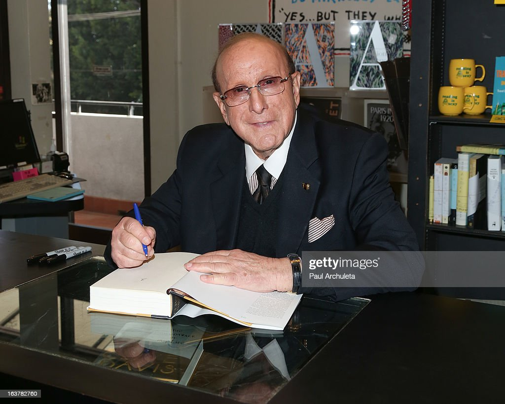 Record Producer Clive Davis signs copies of his new book 'The Soundtrack Of My Life' at Book Soup on March 15, 2013 in West Hollywood, California.