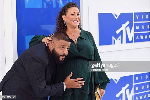 Record producer DJ Khaled and Nicole Tuck attend the 2016 MTV Video Music Awards at Madison Square Garden on August 28 2016 in New York City