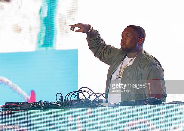 Record producer DJ Mustard performs onstage during day 1 of FVDED In The Park at Holland Park on July 2 2016 in Surrey Canada
