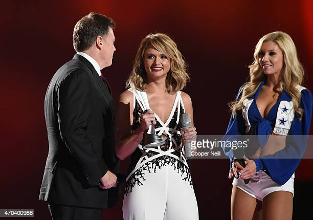 Record producer Frank Liddell and honoree Miranda Lambert accept the award for Album of the Year for 'Platinum' during the 50th Academy Of Country...