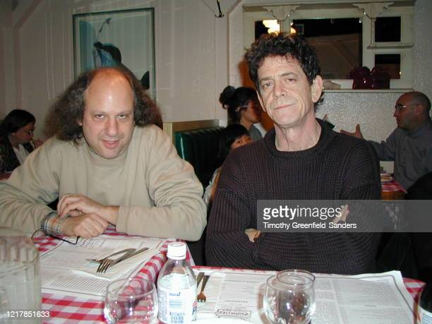 Record producer Hal Willner and musician Lou Reed are photographed on April 9 2000 in New York City