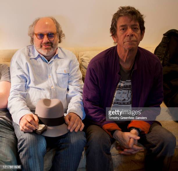Record producer Hal Willner and musician Lou Reed are photographed on February 22 2011 in New York City