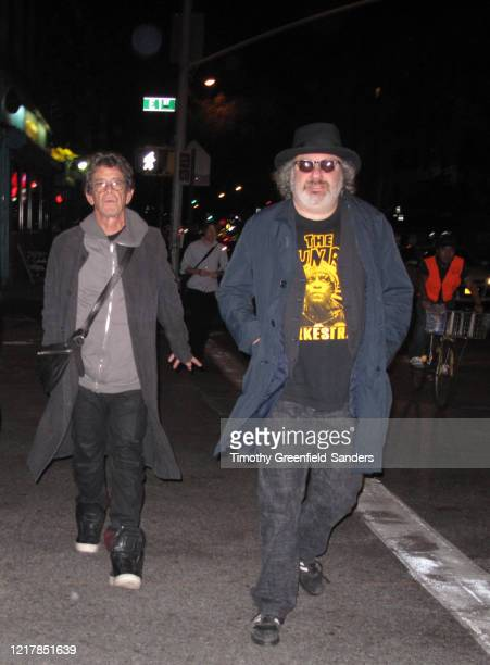 Record producer Hal Willner and musician Lou Reed are photographed on October 18 2011 in New York City