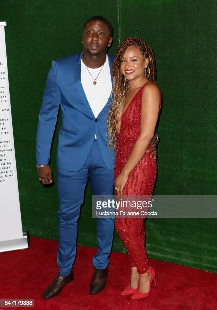 Record producer Harmony Samuels and Rhyon attend the screening of BOE and The Know Contemporary's 'Pretty Girl' by Rhyon on September 14 2017 in Los...