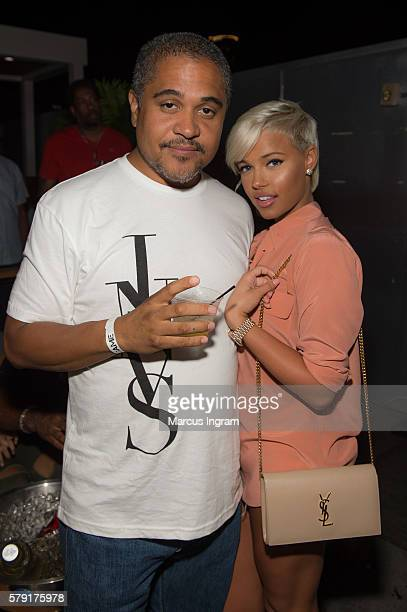 B record producer Irv Gotti and Ashley Martelle attend the private screening of Lifetime's The Rap Game at Suite Food Lounge on July 22 2016 in...