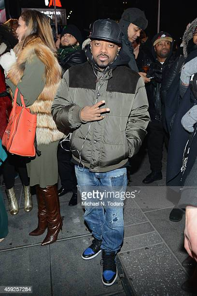 Record producer Jermaine Dupri attends CIROC's Step Into The Circle Launch hosted by Sean Diddy Combs in Times Square on November 19 2014 in New York...